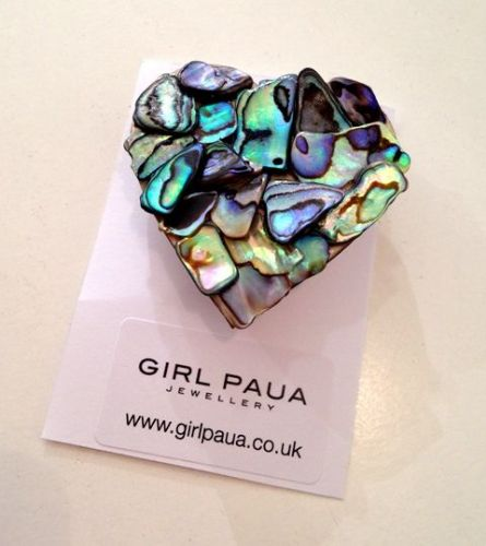 Brooch - Heart Mosaic (large)